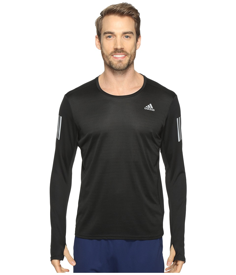 adidas - Response Long Sleeve Tee (Black) Men's Long Sleeve Pullover