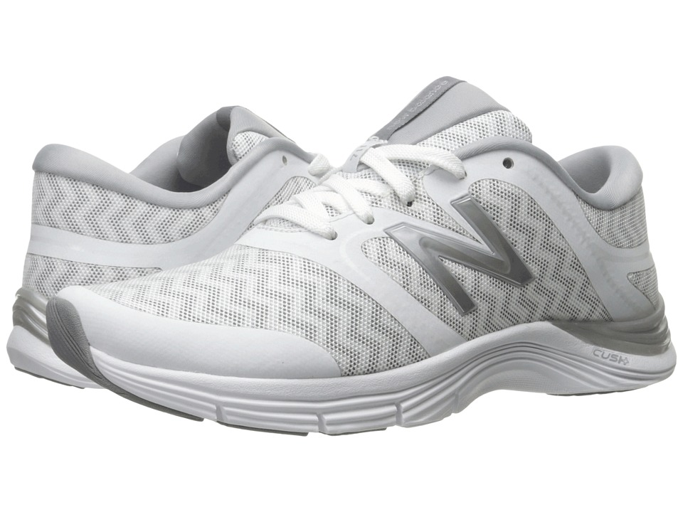 New Balance - WX711v2 (White/Silver Zigzag Graphic) Women's Cross Training Shoes