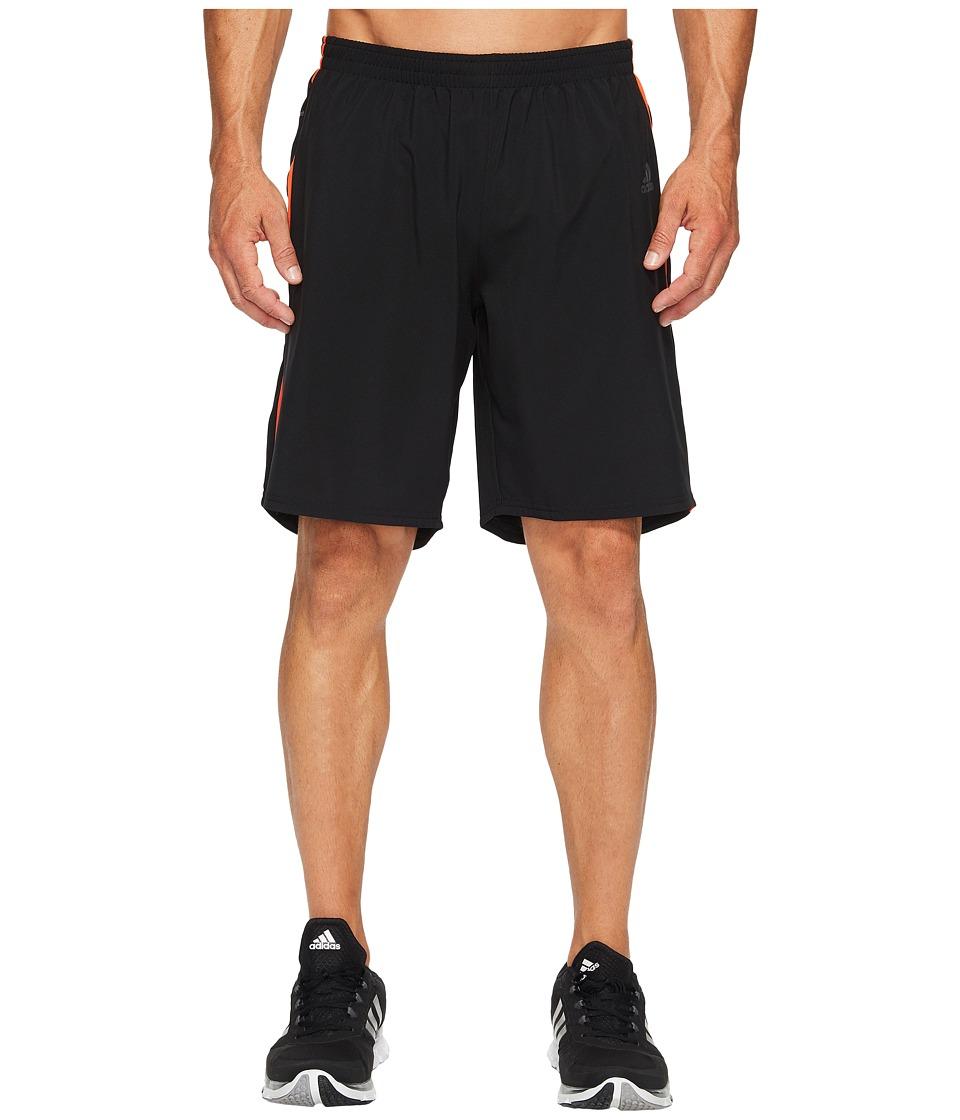 adidas - Response 9 Shorts (Black/Energy S17) Men's Shorts