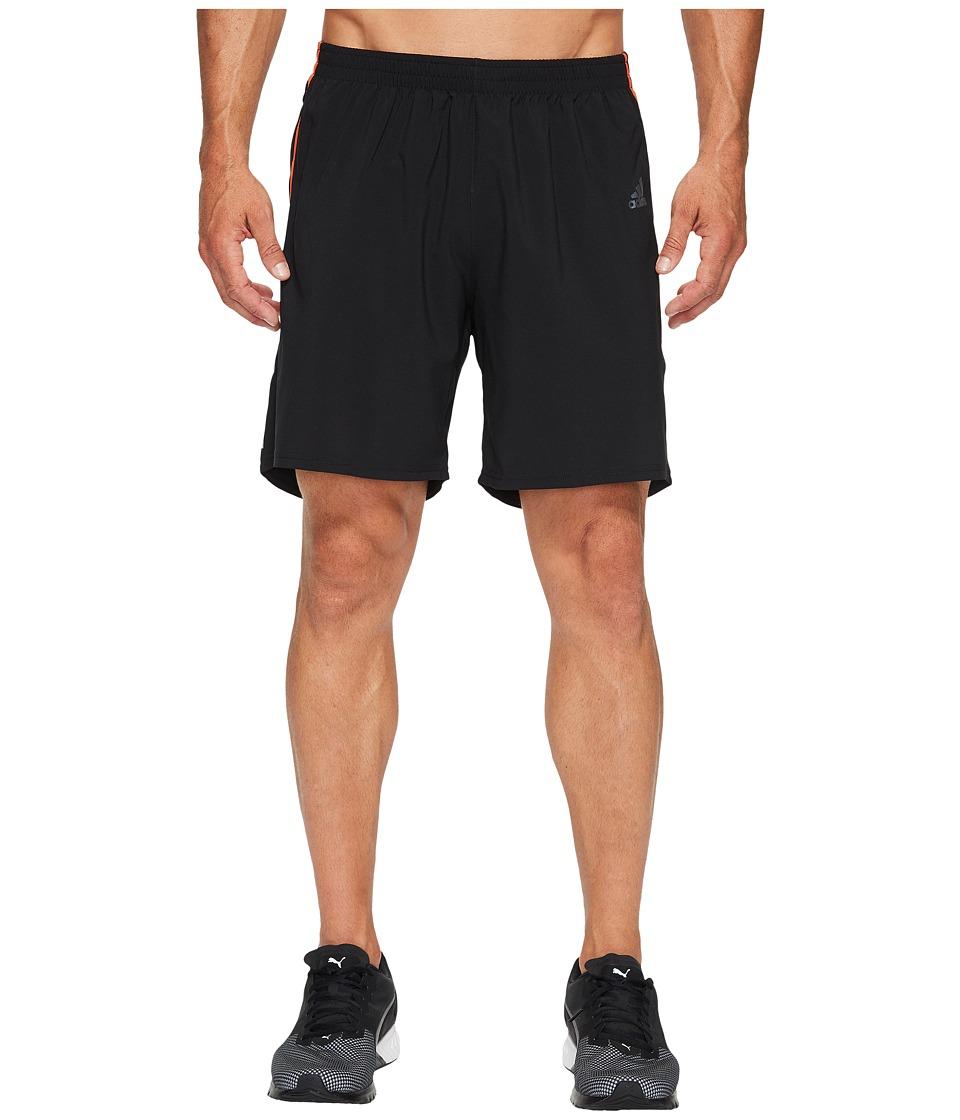 adidas - Response 7 Shorts (Black/Energy S17) Men's Shorts
