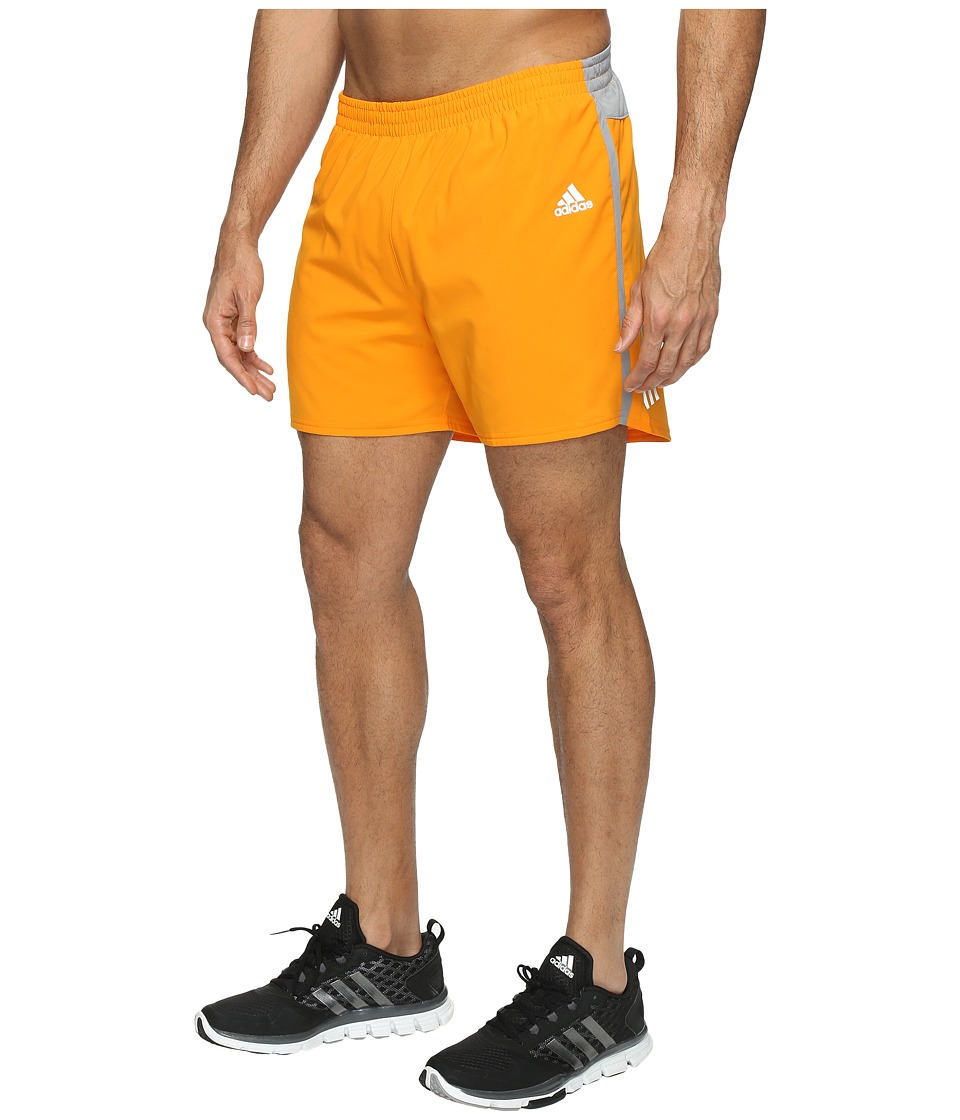adidas - Response 5 Shorts (Bright Orange) Men's Shorts