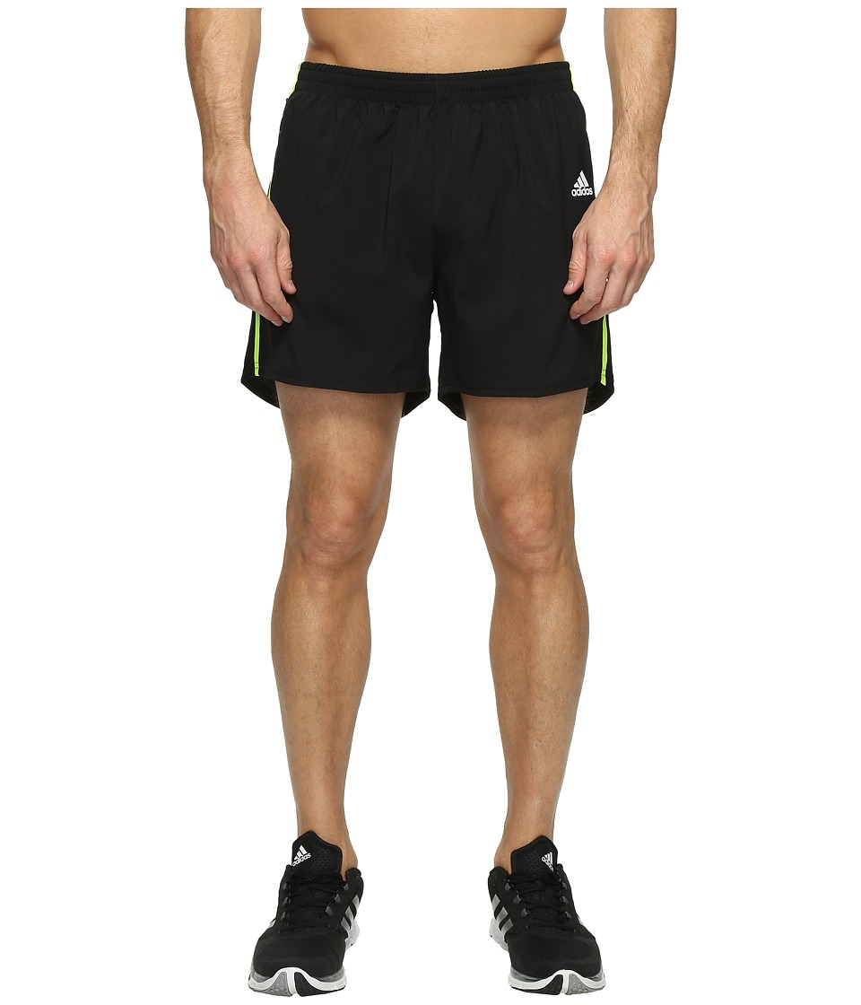 adidas - Response 5 Shorts (Black/Solar Yellow) Men's Shorts