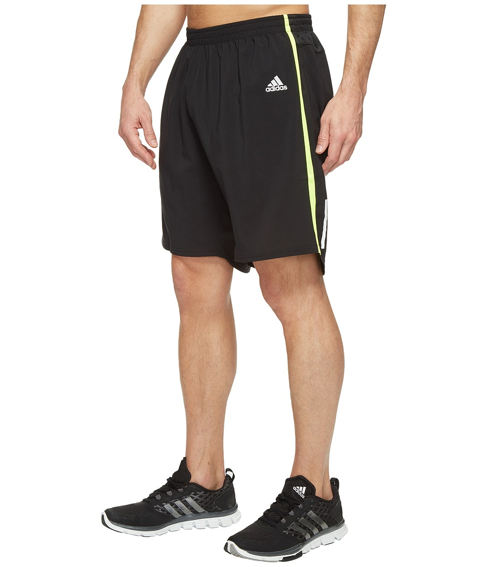 adidas - Response 9 Shorts (Black/Solar Yellow) Men's Shorts