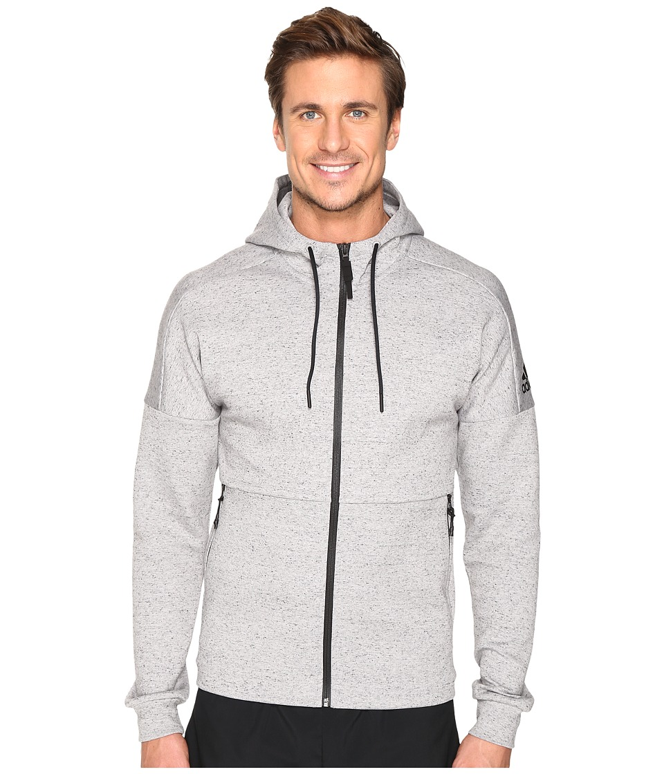 adidas - ID Stadium Full Zip Hoodie (Medium Grey Heather Solid Grey) Men's Sweatshirt