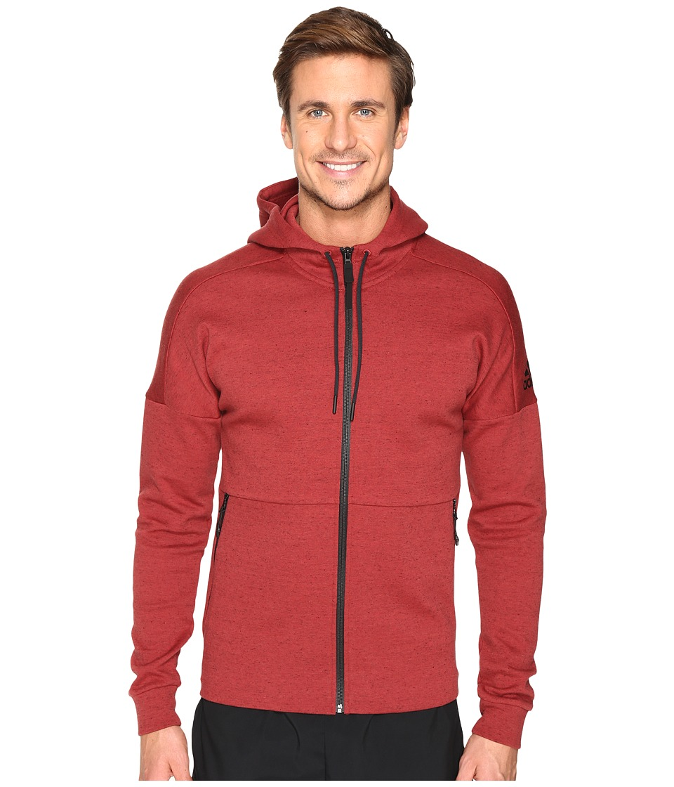 adidas - ID Stadium Full Zip Hoodie (Mystery Red) Men's Sweatshirt
