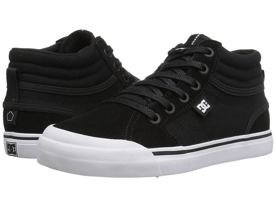 DC Kids - Evan Hi (Little Kid/Big Kid) (Black/White) Boys Shoes