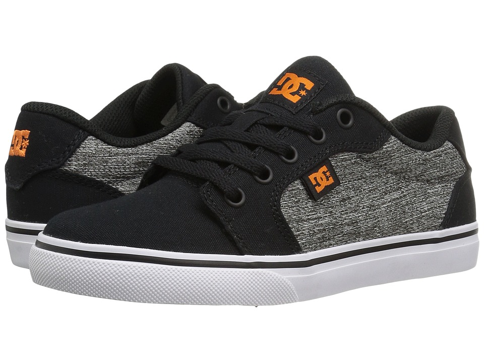 DC Kids - Anvil TX SE (Little Kid/Big Kid) (Black/Grey) Boys Shoes