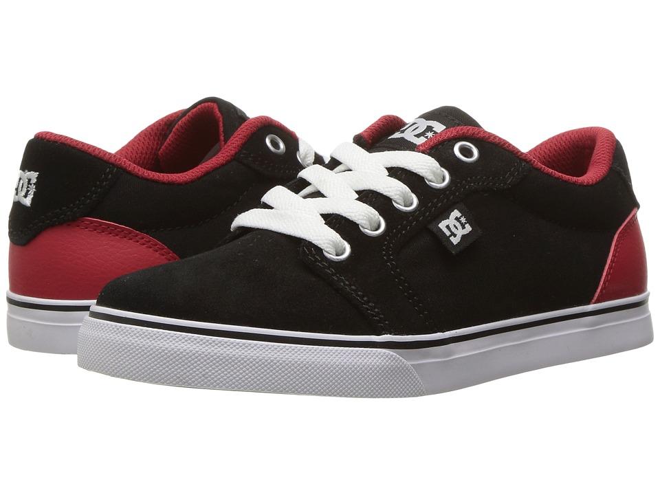 DC Kids Anvil (Little Kid/Big Kid) (Black/Red/White) Boys Shoes