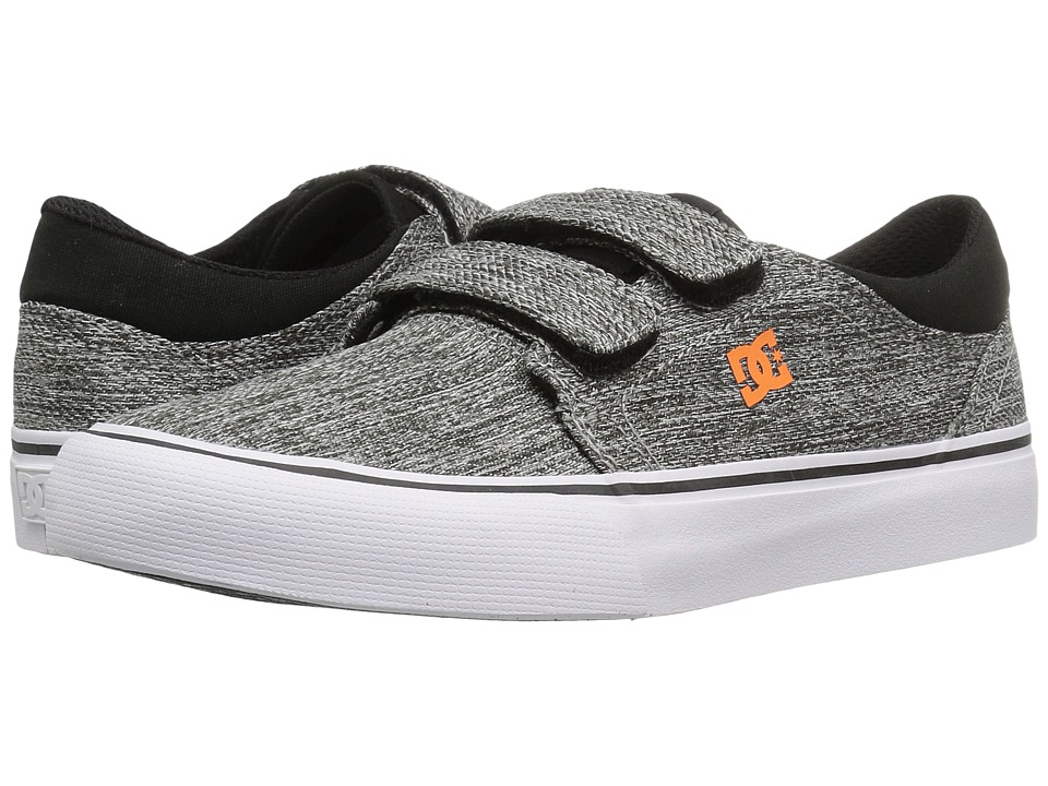 DC Kids - Trase V TX SE (Little Kid/Big Kid) (Black/Grey) Boys Shoes