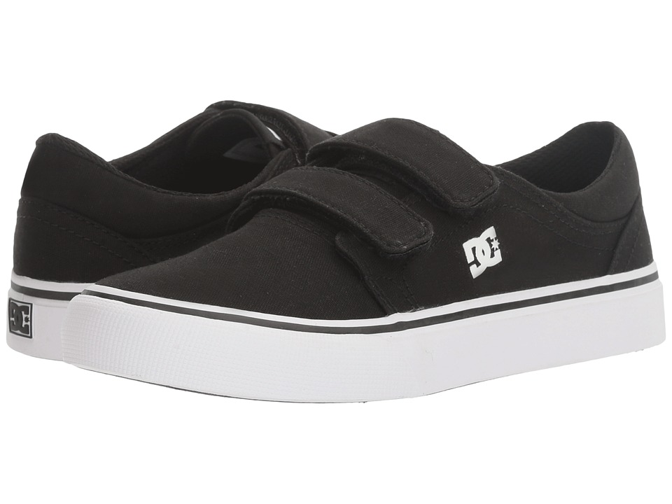 DC Kids - Trase V (Little Kid/Big Kid) (Black/White) Boys Shoes