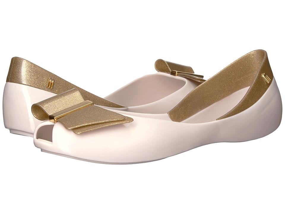 Melissa Shoes - Queen II (Beige/Gold) Women's Shoes