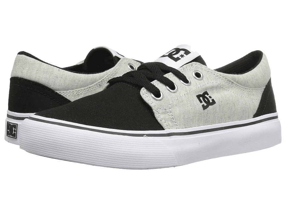 DC Kids - Trase TX SE (Little Kid/Big Kid) (Black/White/Black) Boys Shoes