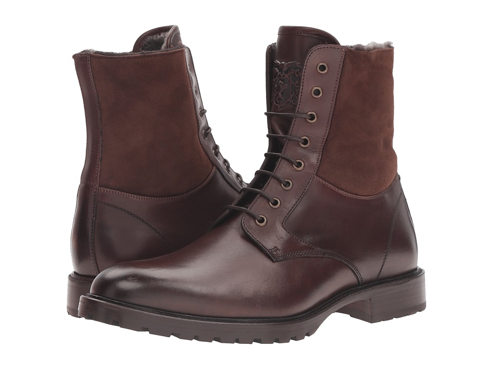 Bruno Magli - Lotto (Dark Brown Cordovan/Shearling) Men's Lace-up Boots