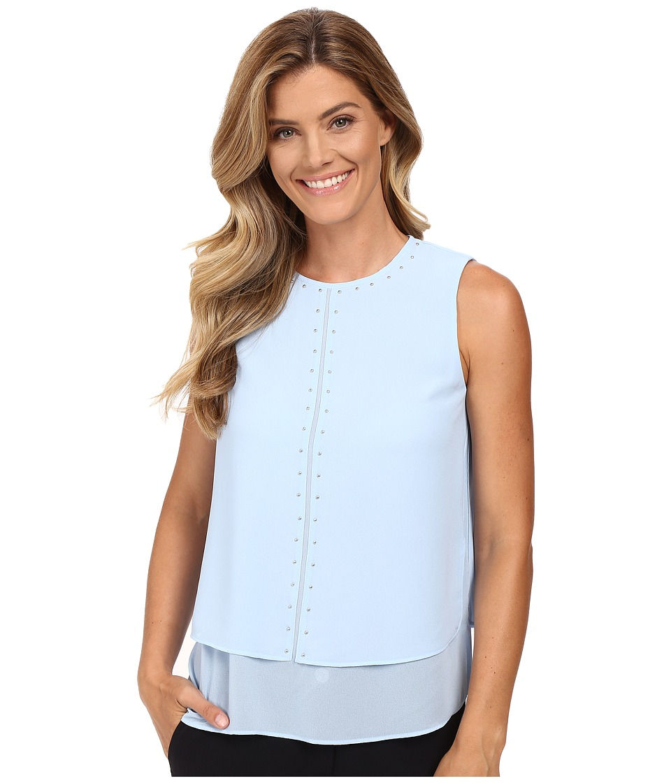 MICHAEL Michael Kors - Double Layer Top (Shore Blue) Women's Clothing