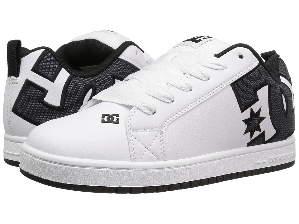 DC - Court Graffik SE (White Smooth) Men's Skate Shoes