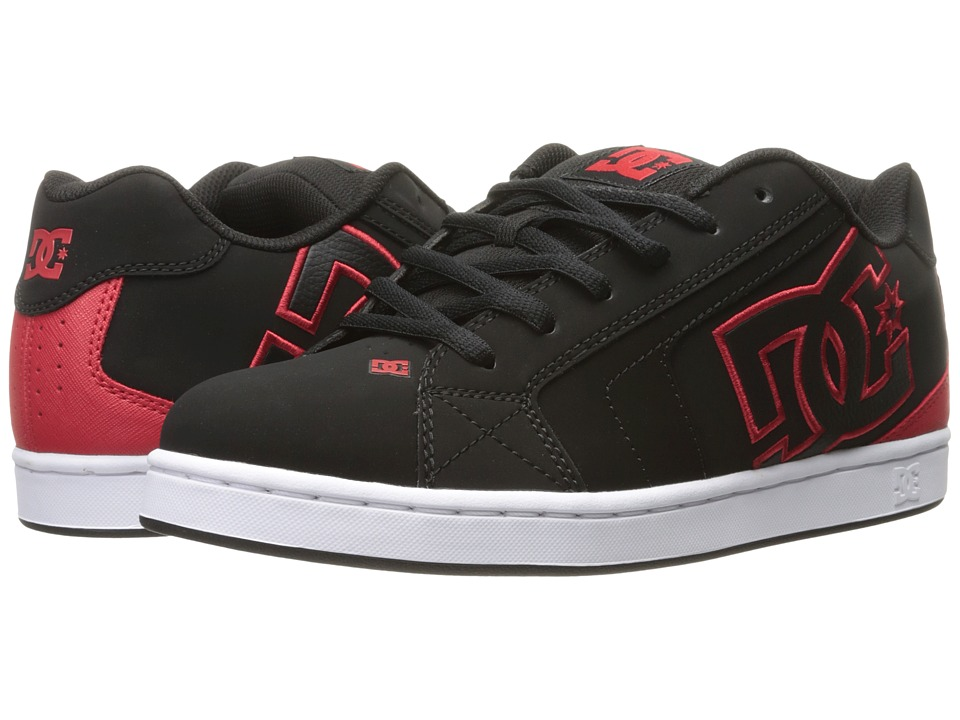 DC - Net (Black/Red) Men's Skate Shoes