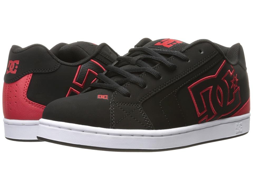 DC - Net (Black/Red) Men's Skate Shoes