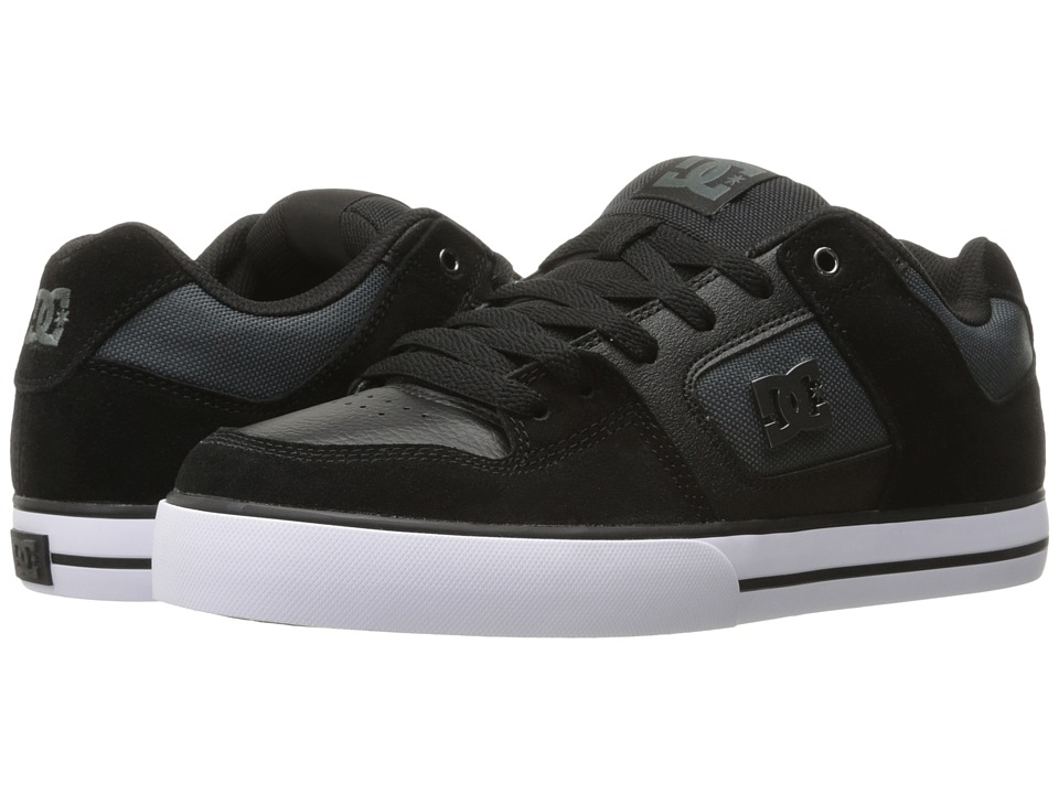 DC - Pure SE (Black/Dark Grey) Men's Skate Shoes