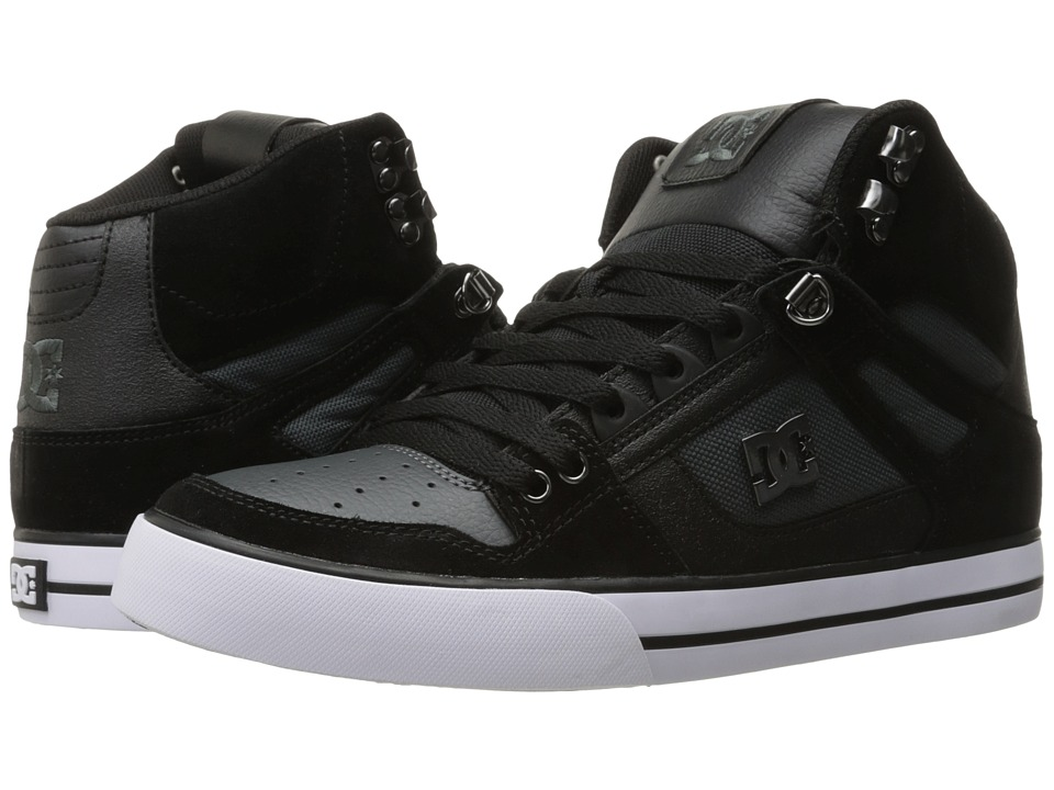 DC - Spartan High WC SE (Black/Dark Grey) Men's Skate Shoes