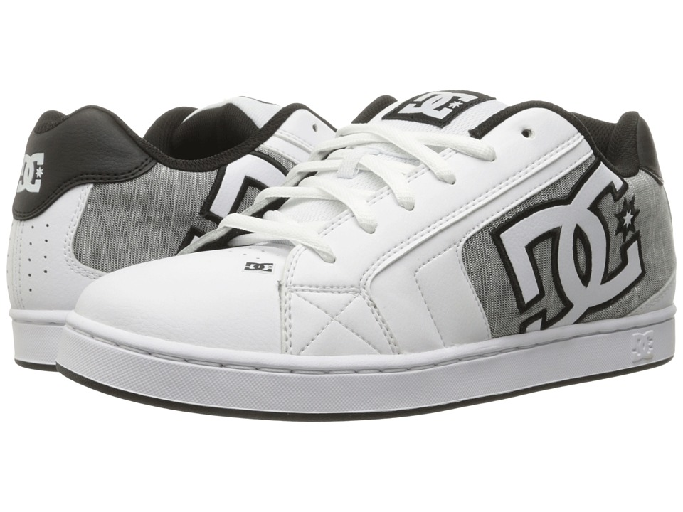 DC - Net SE (White/Light Grey) Men's Skate Shoes