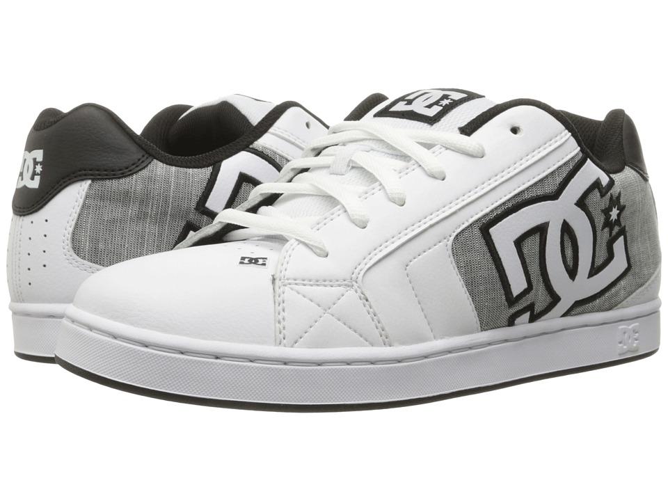 DC - Net SE (White/Light Grey) Men's Skate Shoes