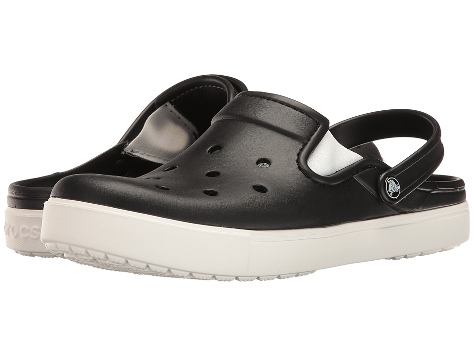 Crocs - CitiLane Clog (Black/White) Clog Shoes
