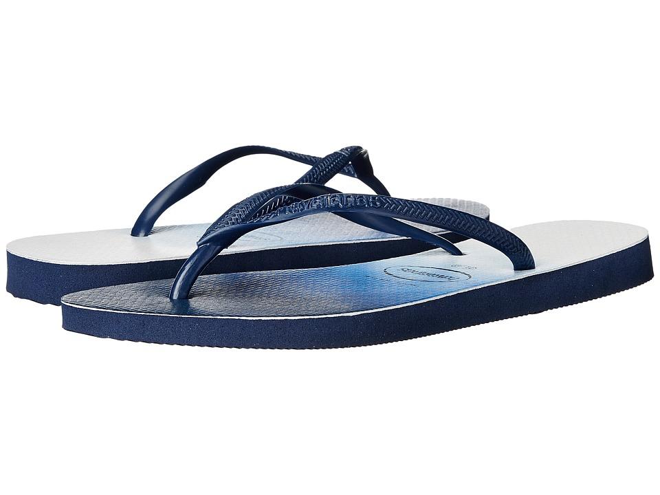 Havaianas - Slim Dip-Dye Sandal (Navy Blue) Women's Sandals