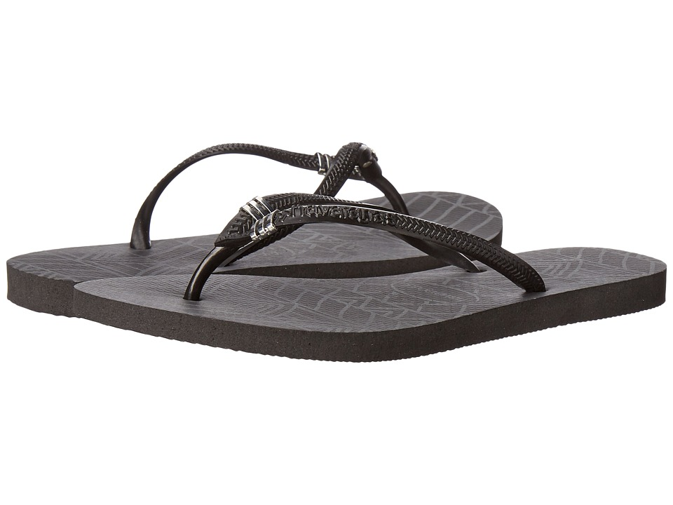 Havaianas - Slim Pin Tribal Sandal (Black) Women's Sandals