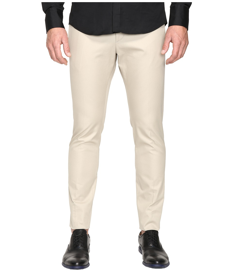 DSQUARED2 - Tidy Fit Cotton Twill Chino Pants (Stone) Men's Casual Pants