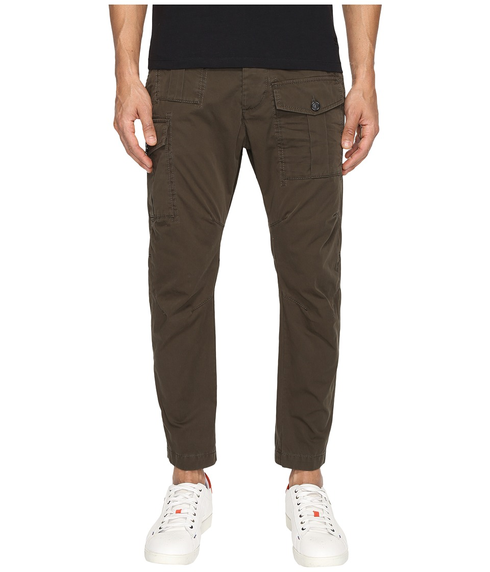 DSQUARED2 - Sexy Cargo Pants (Military Green) Men's Casual Pants