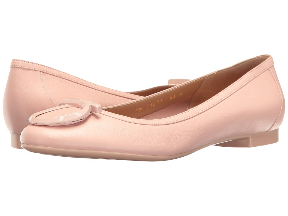 Salvatore Ferragamo - Nappa Ballerina Flat With Large Gancio (Bon Bon Nappa Plonge) Women's Flat Shoes