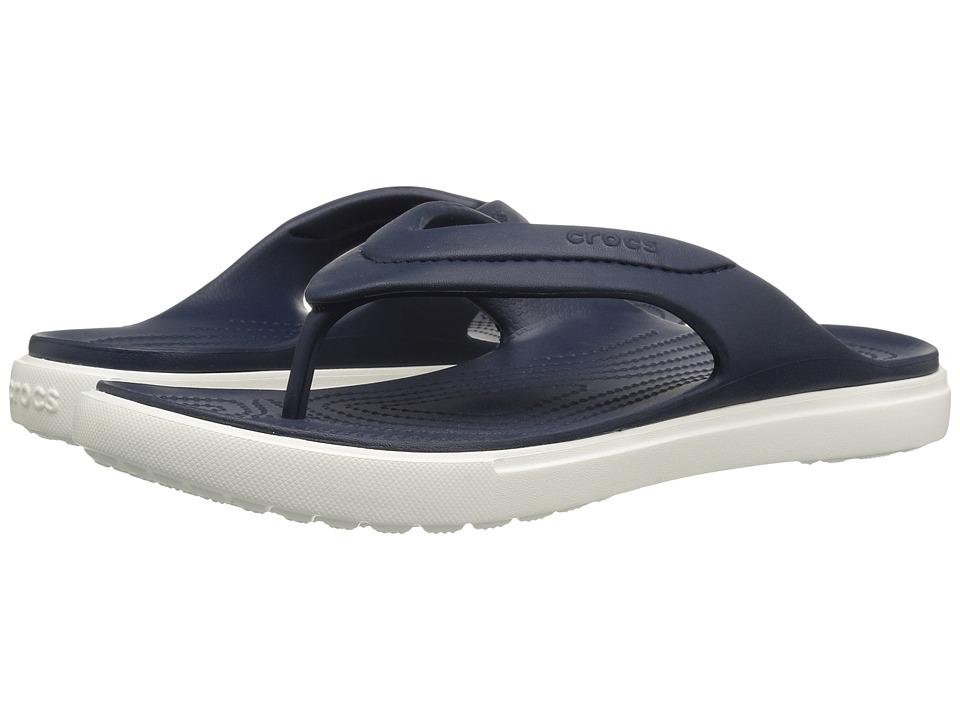 Crocs CitiLane Flip (Navy/White) Slide Shoes