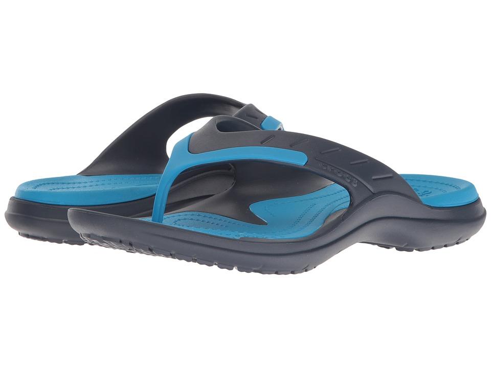 Crocs - Modi Sport Flip (Navy/Ocean) Slide Shoes