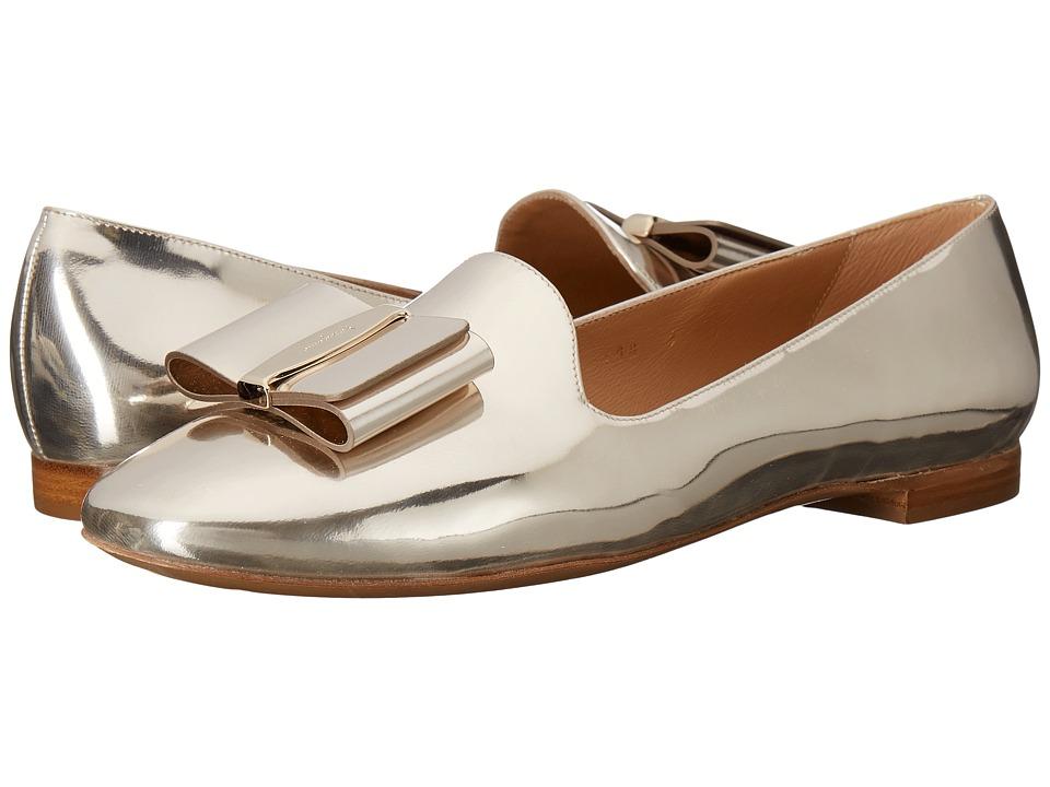 Salvatore Ferragamo - Metallic Calfskin Smoking Slipper (Butter/Oro New Helmut) Women's Flat Shoes