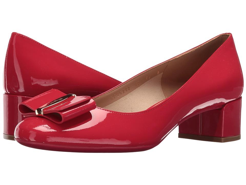 Salvatore Ferragamo - Patent Leather Low-Heel Pump (Pamplona Naplak Pesan) High Heels