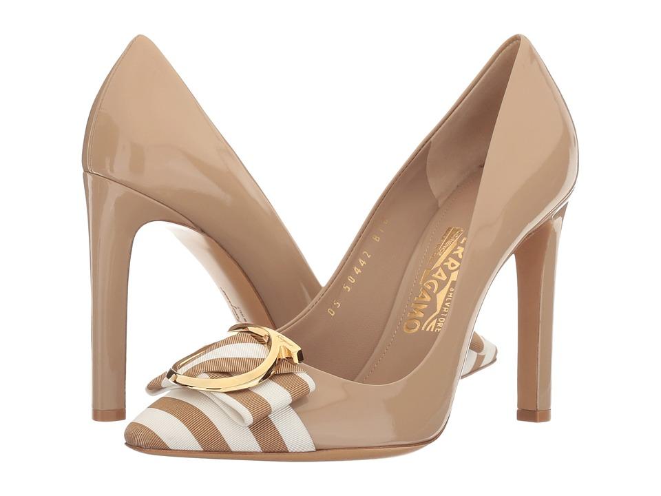 Salvatore Ferragamo - Ezia 100 Stripe (Yuta Patent) High Heels