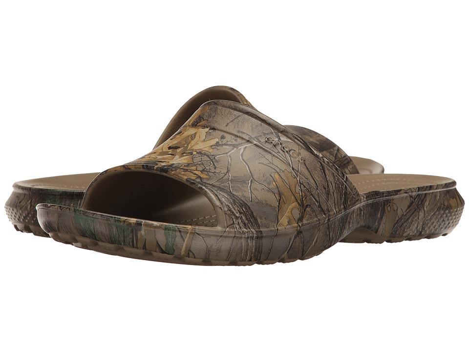 Crocs - Classic Realtree Xtra Slide (Khaki) Slide Shoes
