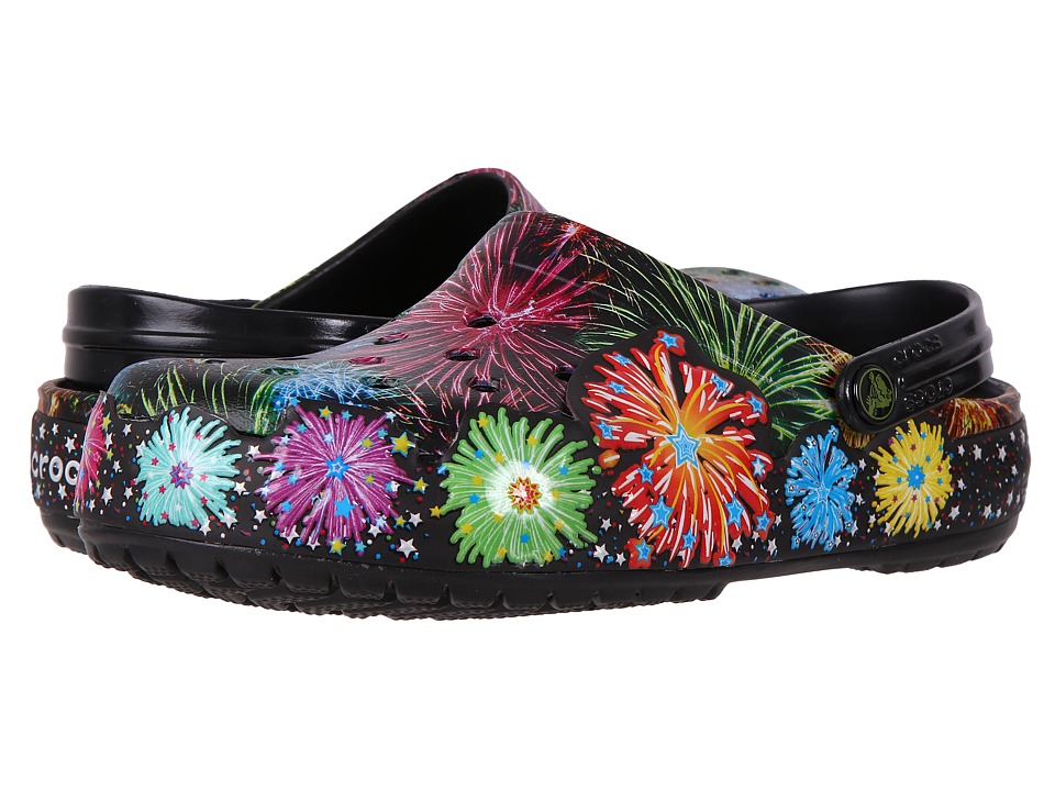 Crocs Crocband Fireworks Clog (Black) Clog/Mule Shoes