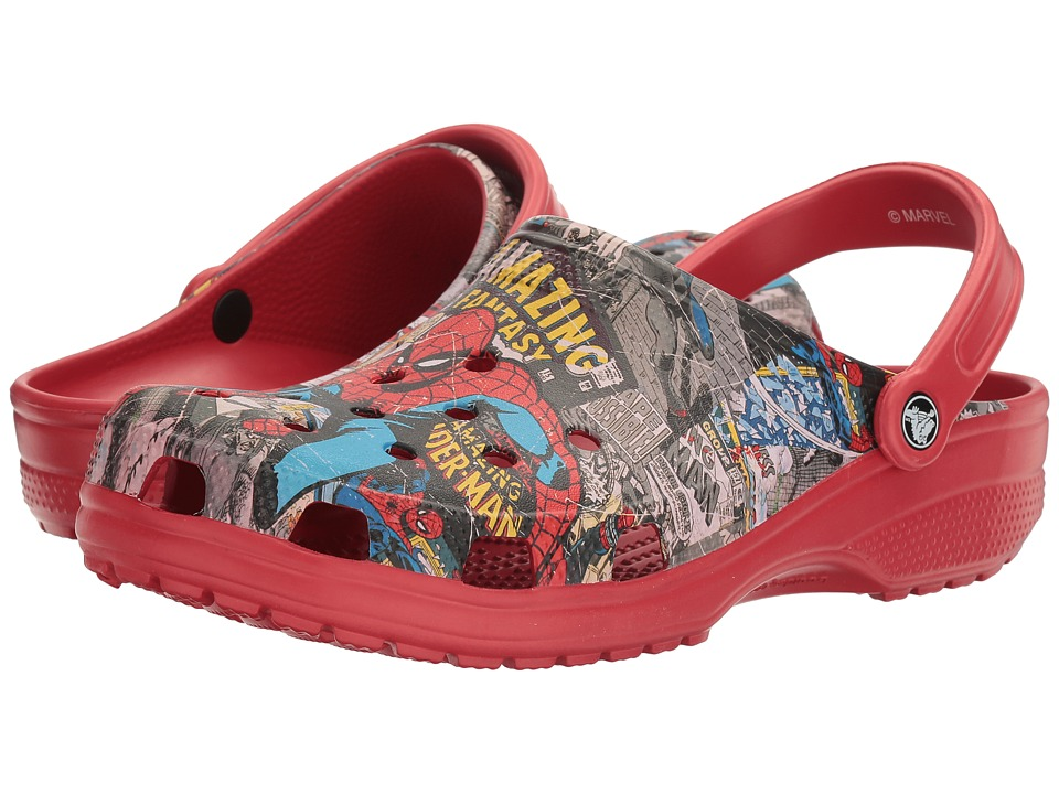Crocs - Classic Spiderman Clog (Multi) Clog/Mule Shoes