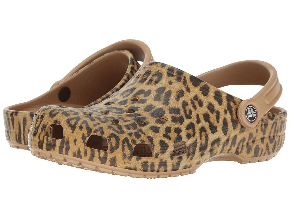 Crocs Classic Leopard III Clog (Gold) Clog/Mule Shoes