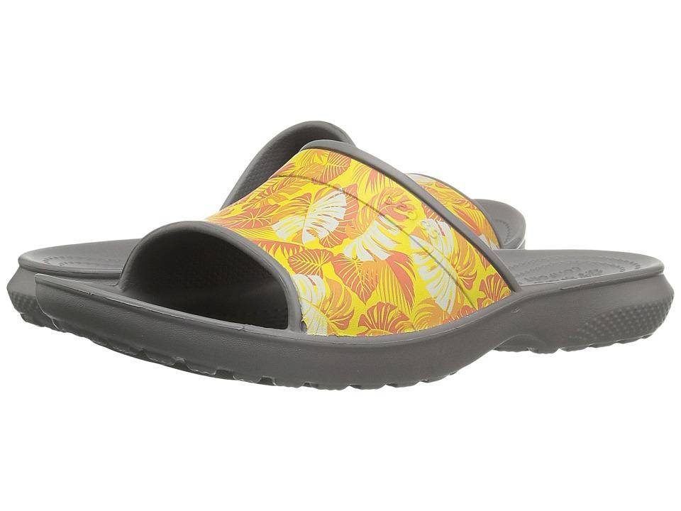 Crocs - Classic Tropics Slide (Smoke) Slide Shoes