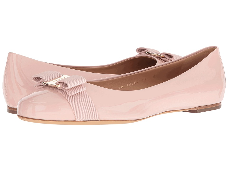 Salvatore Ferragamo - Varina (Bon Bon Patent) Women's Slip on Shoes
