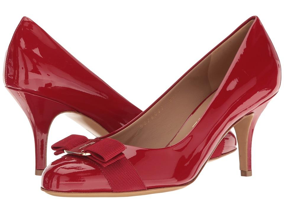 Salvatore Ferragamo - Carla 70 (Rosso Patent) High Heels