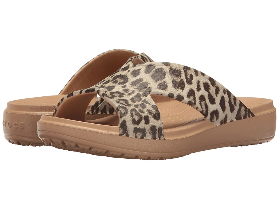 Crocs - Sloane Graphic Xstrap (Leopard) Women's Sandals