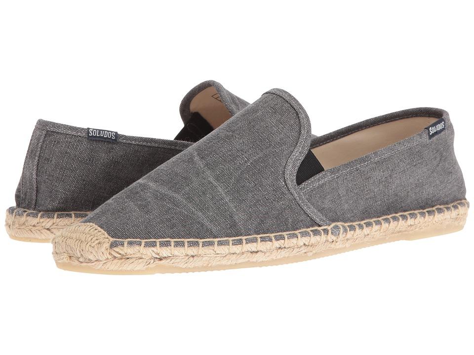 Soludos - Smoking Slipper w/ Gore (Dark Gray) Men's Flat Shoes