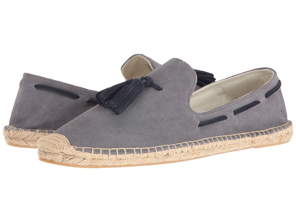 Soludos - Tasseled Smoking Slipper (Owl Gray) Men's Flat Shoes