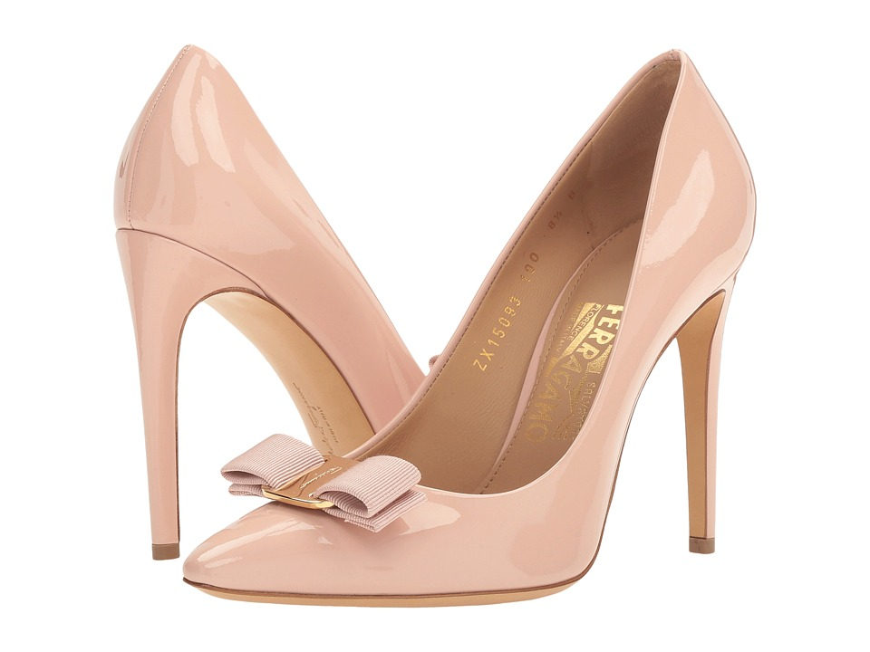 Salvatore Ferragamo - Emy 100 (Bon Bon Patent) High Heels