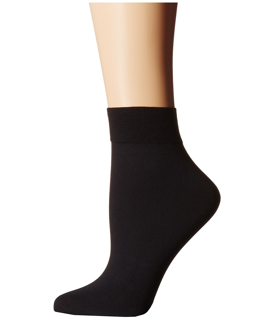 Cole Haan - 2-Pair Solid Anklet (Black) Women's Crew Cut Socks Shoes