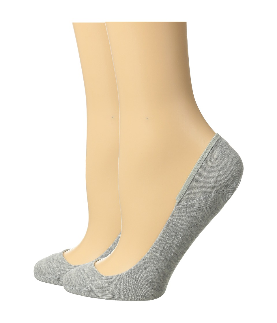 Cole Haan - 2-Pair Ballet Liner (Oxford Heather) Women's Crew Cut Socks Shoes