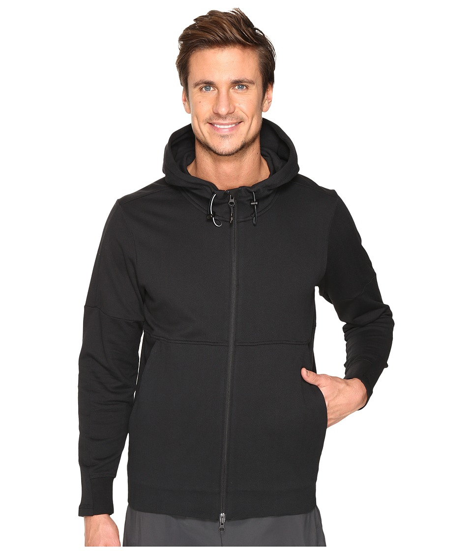 adidas - Sport ID French Terry Full Zip Hoodie (Black) Men's Sweatshirt
